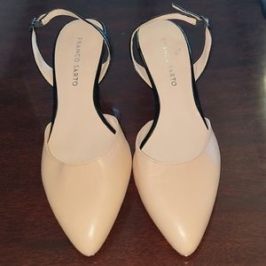 Franco Sarto nude and black slingbacks 8.5M